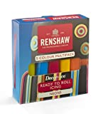 Renshaw Fondant Ready To Roll Icing Pro Pack Cubrir Tartas de Colores Neon 500 g