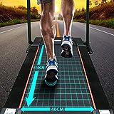 AsVIVA Laufband T17 Cardio Runner Heimtrainer – 12 km/h Geschwindigkeit, elektronischer 2,5 PS HighTech Motor – Fitnesscomputer mit 20 Trainingsprogrammen, manuelle 5% Steigung, kompakt klappbar - 5