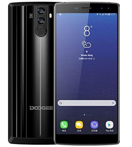 DOOGEE BL12000-6.0 Zoll FHD + (18: 9 Verhältnis) 12000mAh Akku Android 7.0 4G Smartphone, Octa Core 1.5GHz 4GB + 32GB, Quad-Kameras (16MP + 8MP + 16MP + 13MP), Schnellladung - Schwarz