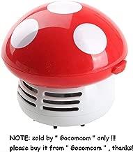HONBAY Mini Cute Table Dust Vaccum Cleaner, Mushroom Shaped New Portable Corner Desk Vaccum Cleaner Mini Cute Vacuum Cleaner Dust Sweeper (RED)
