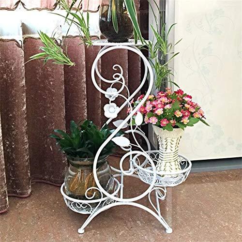 Supports de fleur d'art de fer blanc/Stand-debout en plein pied des plantes présentoir pour salon balcon de jardin