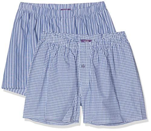 Living Crafts Boxer-Shorts, 2er-Pack M, Denim Blue