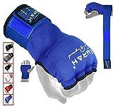 EMRAH Boxe Boxe Bande per Le Mani Polsini Elastici Boxing MMA Bandages Guanti da Immersione Completa Boxe avvolge Impugnatura Pugilato Mano avvolge MMA Mano Boxing Wraps (Blu, Medio)