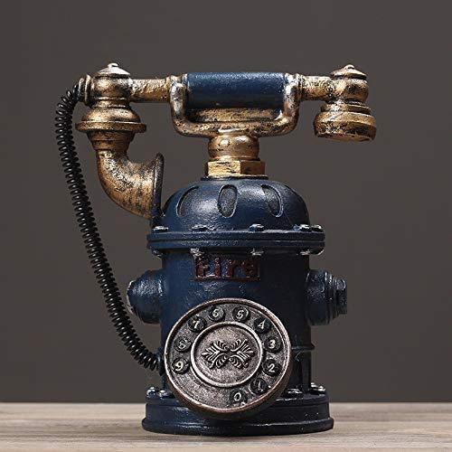 Piggy Bank Piggy Bank, Teléfono Retro Nórdico Siglo XIX Dial Rotary Teléfono Monedas de oro,Blue