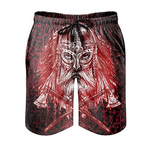 YOUYO Spark Bañador para hombre, color rojo, con diseño de Odin