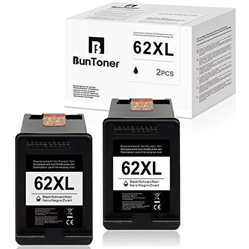 BunToner - Cartuchos de tinta compatibles con HP 62XL para HP OfficeJet 5740 5742 5744 5745 5746 eAIO Envy 5640 5642 5644 5646 7640 7645 eAIO (2 )