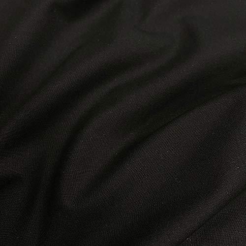 Tela por Metros de Tela de algodón para confección de mascarillas higiénicas Reutilizables, Batas, sábanas - Hidrófugo con Acabado parafina | Color Negro