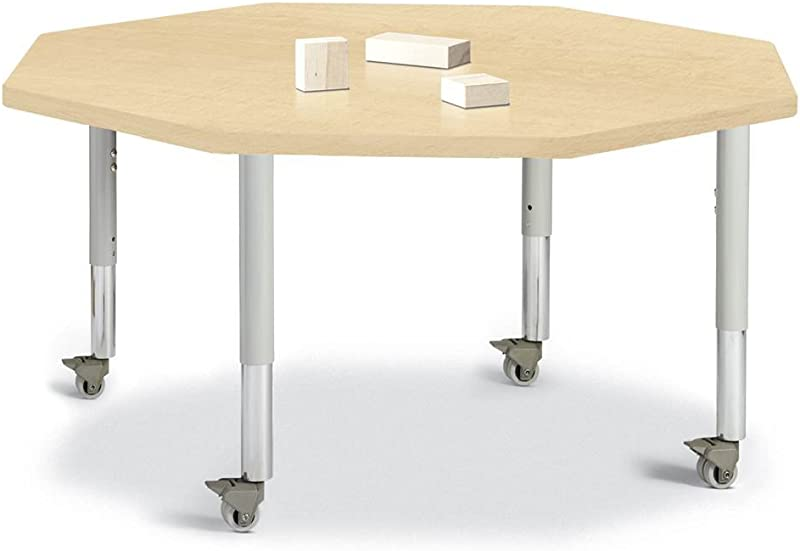 Berries Octagon Activity Table In Maple