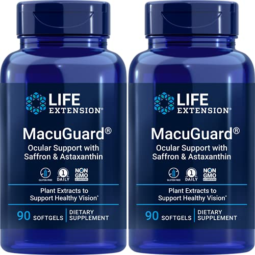 Life Extension MacuGuard 90 softgels (Pack of 2), Ocular Support with...