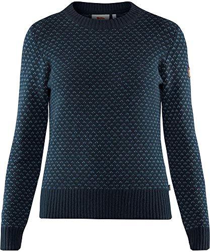 Fjallraven Damen Sweatshirt Övik Nordic Sweater W, Dark Navy, XXS, 89749