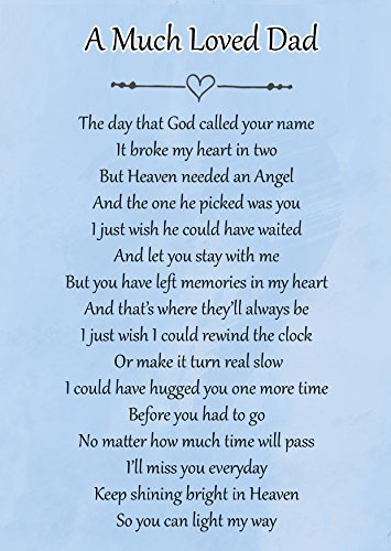 A Much Loved Dad Memorial Graveside Poem Keepsake Card Includes Free Ground...