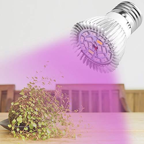 Delaman Coltiva La Lampadin, Full Spectrum E27 / E14 Gu10 85-265v 18w 18 LED Luce Fiore Pianta Idroponica Crescita A Spettro Completo Grow Lampadine Complete Giardino(Design:E14)