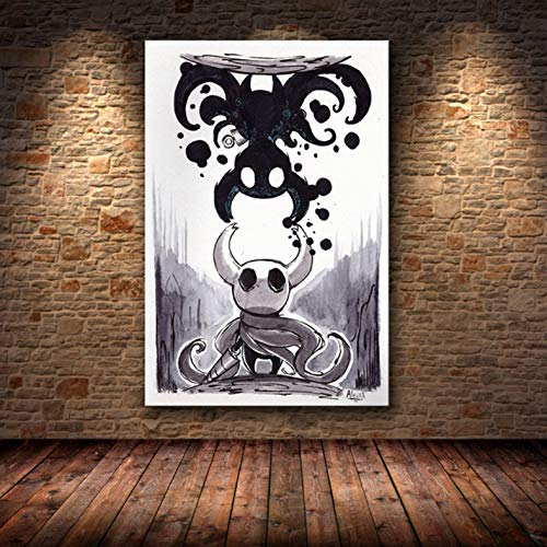 PHhomedecor Sin Marco Cuadros 50X70Cm - Hollow Knight Map Game Cartel Decoración Pintura Pintura Al Óleo sobre Lienzo HD Holden Poster Wall Art Canvas,Wkh-679
