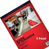 Flex 164570000 Buoni di Consegna Autoricalcanti in Duplice Copia - Blocchi Ricevute Generiche Moduli Trasporti e Ddt - Blocchetto Consegne in 2 Copie Blocchetti Formato 21x15 (5)