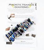 Magnetische Hämatit-Edelsteine, 500 g, mit Informationsblatt Iridescent Hematite -