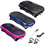 ReaseJoy Vibration Plate Platform Fitness Plate Machine Power Plate Remote Control Rose Red
