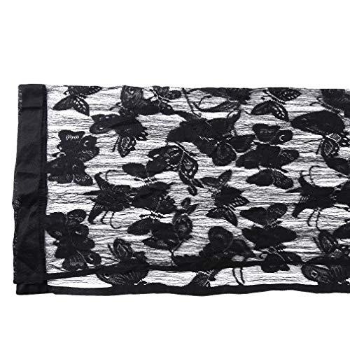 Yinew Butterfly Pattern Vorhang transluzente Tür Vorhang Druckplatte Exquisite Home Decor, schwarz