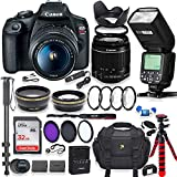 Canon EOS Rebel T7 DSLR Camera with 18-55mm is Lens Bundle + Speedlight TTL Flash + 32GB Memory + Filters +...