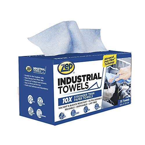 Zep - 1049801 Advanced Poly-Fiber Industrial Towels - 10x Stronger Than Paper Towel