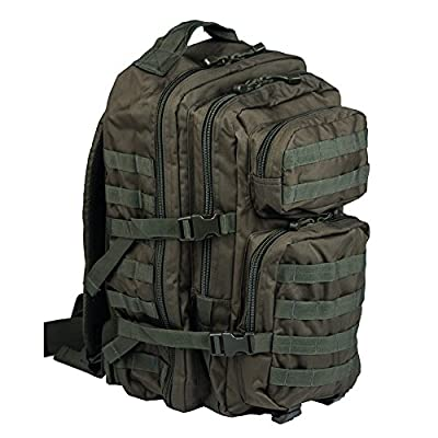 Mil-Tec Military Army Patrol Molle Assault Pack Tactical Combat Rucksack Backpack (OD Green, 36 Liter)