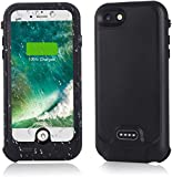 iPhone 8/iPhone 7 Battery Case 3000mAh, Wireless Charging & Lightning Headphone Supported, Portable Charger Case Fully Sealed Rugged Case for iPhone 7/8 4.7inch