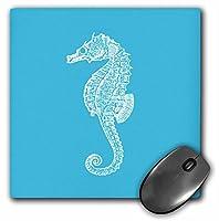 3drose LLC 8x 8x 0.25インチマウスパッド、ブルータツノオトシゴ印刷、Sea Horse、海洋Marineビーチ水族館水生( MP _ 164957_ 1)