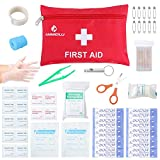First Aid Kit Medical Survival Bag(46 Piece),Mini First Aid Kit: Compact for Emergency at Home, Outdoors, Car, Camping, Workplace, Hiking, Survival, ANMEILU.