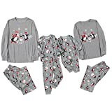 Fossen MuRope Pijamas Familiares Iguales de Pingüino, Pijamas de Navidad Familia Conjunto, Pijamas Mujer Hombre Niño Bebe Divertido Baratos Ropa de Dormir Invierno