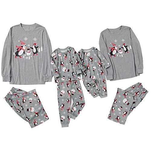 Fossen MuRope Pijamas Familiares para Familia de Mujer Hombre Entero Niña Niño Bebe de Pingüino - Pijama Navidad Familia Baratos Invierno Reno