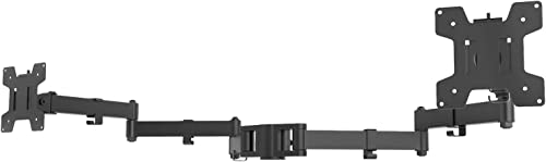 WALI Universal Dual Fully Adjustable 3 Tier Arm Accessory for WALI Monitor Mounting System (002ARMXL), Black