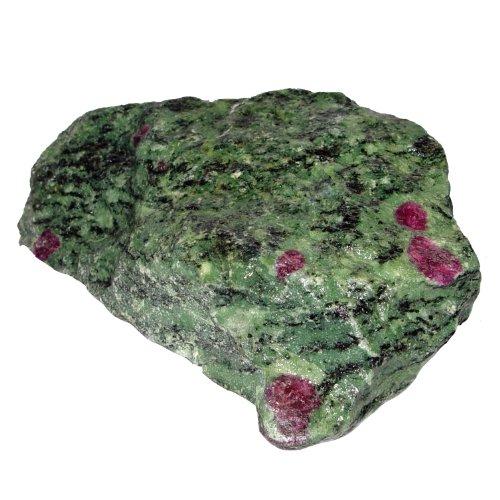 Rubin Zoisit Rohstein Rohstück gute Steinquailität mit schönen rotem Rubin ca. 0,5 - 1 kg.(3485)