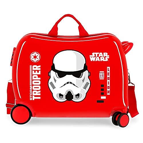 Star Wars Storm Maleta Infantil Roja 50x38x20 cms Rígida ABS Cierre de combinación lateral 34L 1,8 kgs 4 Ruedas Equipaje de Mano