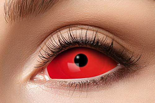 Zoelibat Eyecatcher - Farbige Kontaktlinsen, Farblinsen, Sclera, 2 Stück, Halloween, Karneval, Fasching, red, rot, 10130496