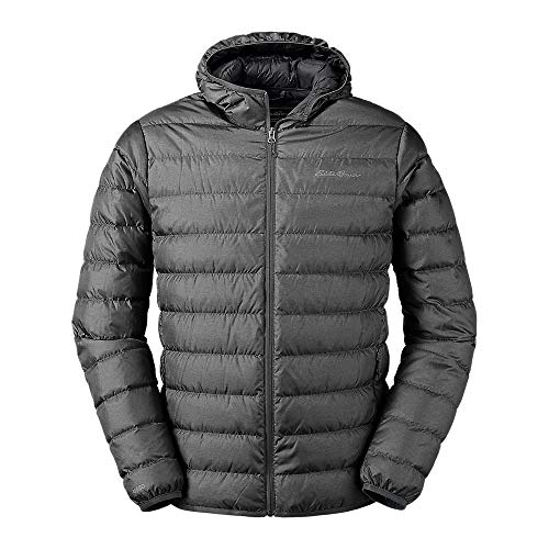 Eddie Bauer Men's CirrusLite Down Hooded Jacket, Dk Smoke Regular L