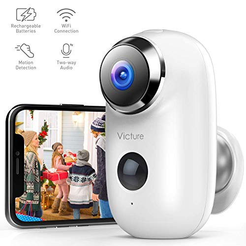 Best Prices! Victure 1080P Outdoor Camera Wireless Rechargeable Battery Powered Home Security WiFi C...
