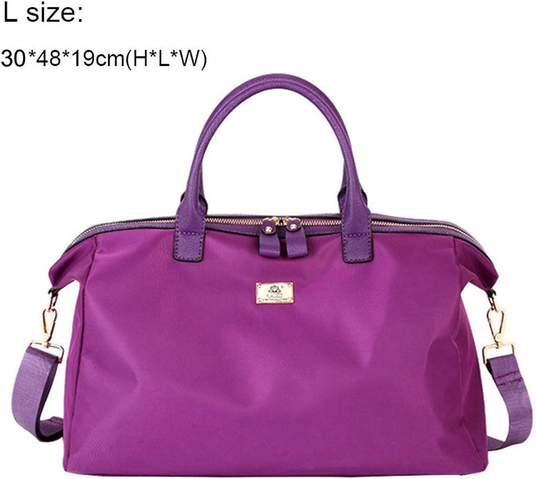 Frauen Sporttasche Für Fitness Handtaschen Tote Schulter Sporttaschen Outdoor Crossbody Short Journey Travel lila L