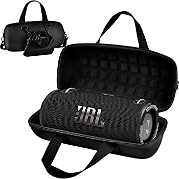 Hard Case for JBL Xtreme 3/ Extreme 2 Portable Waterproof Wireless Bluetooth Speaker Travel Carrying Storage Holder with Zipper Pocket Bag Fit for Charger Adapter and Accessories