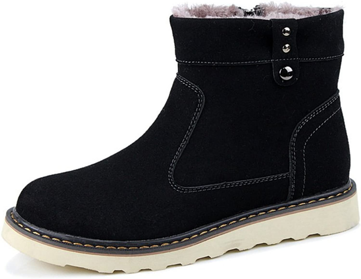 Martin warm and comfortable boots Current personality mens shoes-A Foot length=25.8CM(10.2Inch)