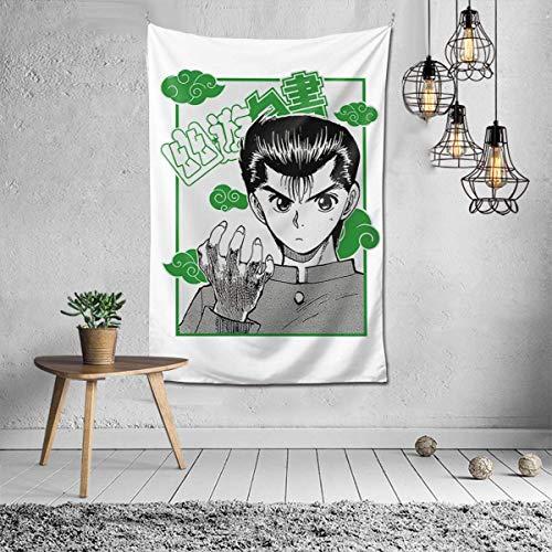IUBBKI Yu Yu Ha-Kus-Ho Tapiz Colgante de Pared Moda decoración del hogar Manta de Pared Dormitorio Sala de Estar Dormitorio 60x40 Pulgadas