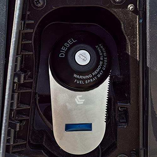 Generisch Edelstahl 5mm Adblue sicherung für Citroen Jümper, FIAT Ducato, Peugeot Boxer ab 2016. AdBlue Verschluss für Wohnmobil, Camper, Kastenwagen