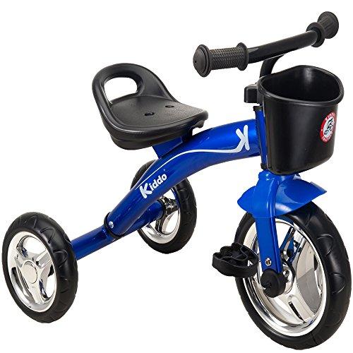 Kiddo Blau 3 Wheeler intelligentes Design Kids Kind Kinder Trike Dreirad Rutscher Bike 2-5 Jahre neu - blau