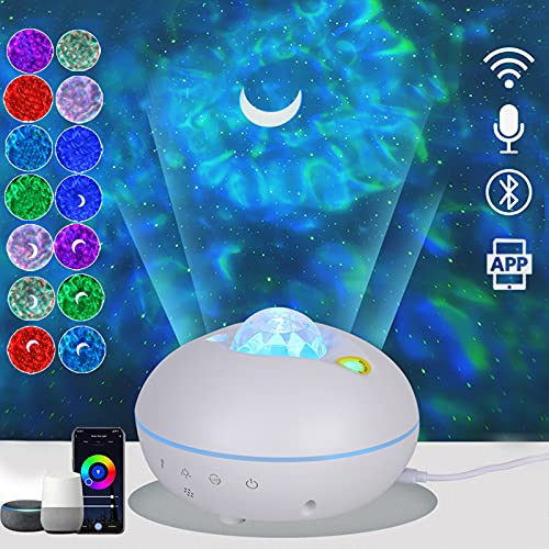 Galaxy Light Projector, Star Projector Night Light with Led Nebula Cloud, Smart Galaxy Projector for Kids, Home Theater, 3 in 1 Night Light Projector, Bluetooth Music Speaker, Voice Control, Timer
