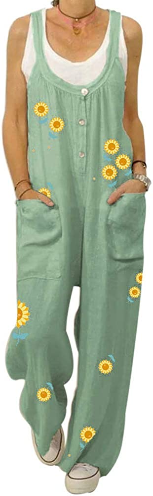 brandless Women's Personality Printed Sling Casual Pants Summer Loose Large Size