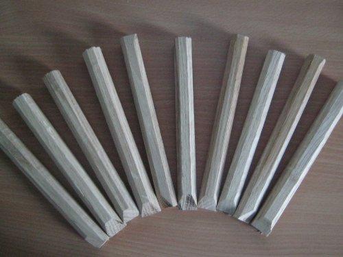 10 Holznägel - Eiche- handgefertigt 18 mm Durchm. Länge 20 cm