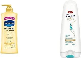 Vaseline Intensive Care Deep Restore Body Lotion, 400 ml & Dove Dryness Care Conditioner, 180ml