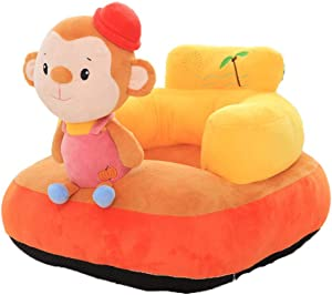 Fengbingl-bb Baby Support Sofa Infant Support Seat Sofa Chair Kids Stuffed Cartoon Animal Plush Toys Baby Sofa Protector Learning Sitting Chair Children Sofa Backrest Chair Baby Sitting Chair