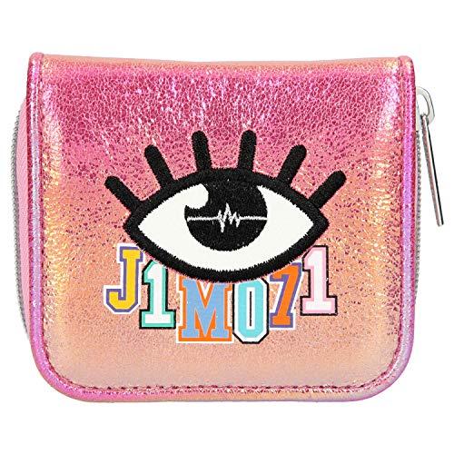 Depesche 10517 Portemonnaie mit Reißverschluss und Druckknopf, Lisa und Lena J1MO71, Holo pink, bunt