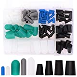 Taukealugs 110pcs High Temp Silicone Rubber End Cap and Tapered Stopper Plug Assortment Kit Powder Coating Paint Masking Supplies