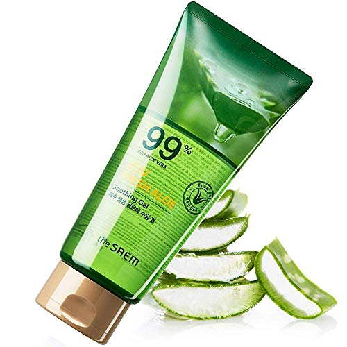 100% natürliches Aloe Vera Gel - 300 ml - Feuchtigkeitscreme für Gesicht, Körper Haar-Gel, Pflege nach dem Sonnen, Wachsen, Rasieren, bei Ekzem, Sonnenbrand, Verhindert Dehnungsstreifen Anti-Narben