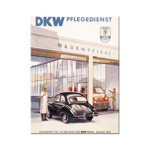 Nostalgic-Art 14147 Traditiemerk - Audi DKW onderhoudsserie, magneet 8 x 6 cm